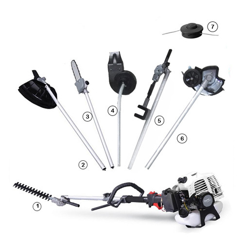 Grass trimmers Gardening Machines 7 in 1 Multifunction Petrol Brush Cutter
