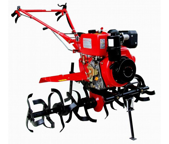 Single cylinder multi functional Gasoline Tiller for tractors , yard machine tiller