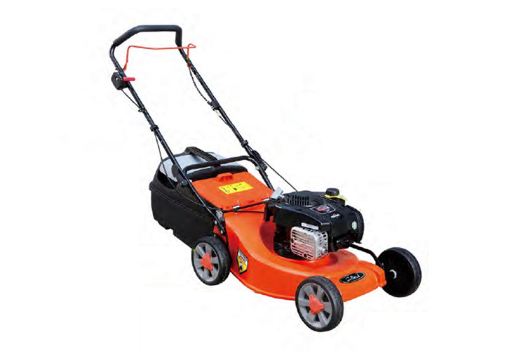Orange Hand Push Garden Lawn Mower Steel Deck 4.0hp Gasoline Power 139cc