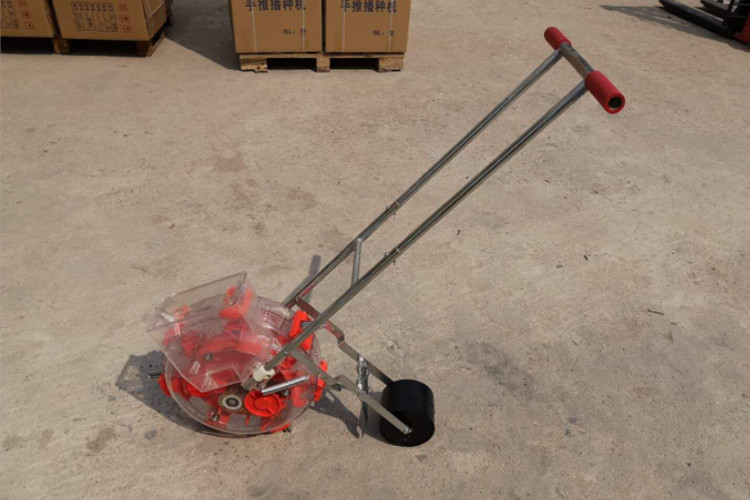 Portable Small Gardening Machines Manual Maize Seeder Power Coating Surface